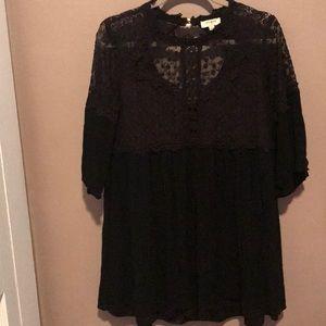 Gauze and lace babydoll dress